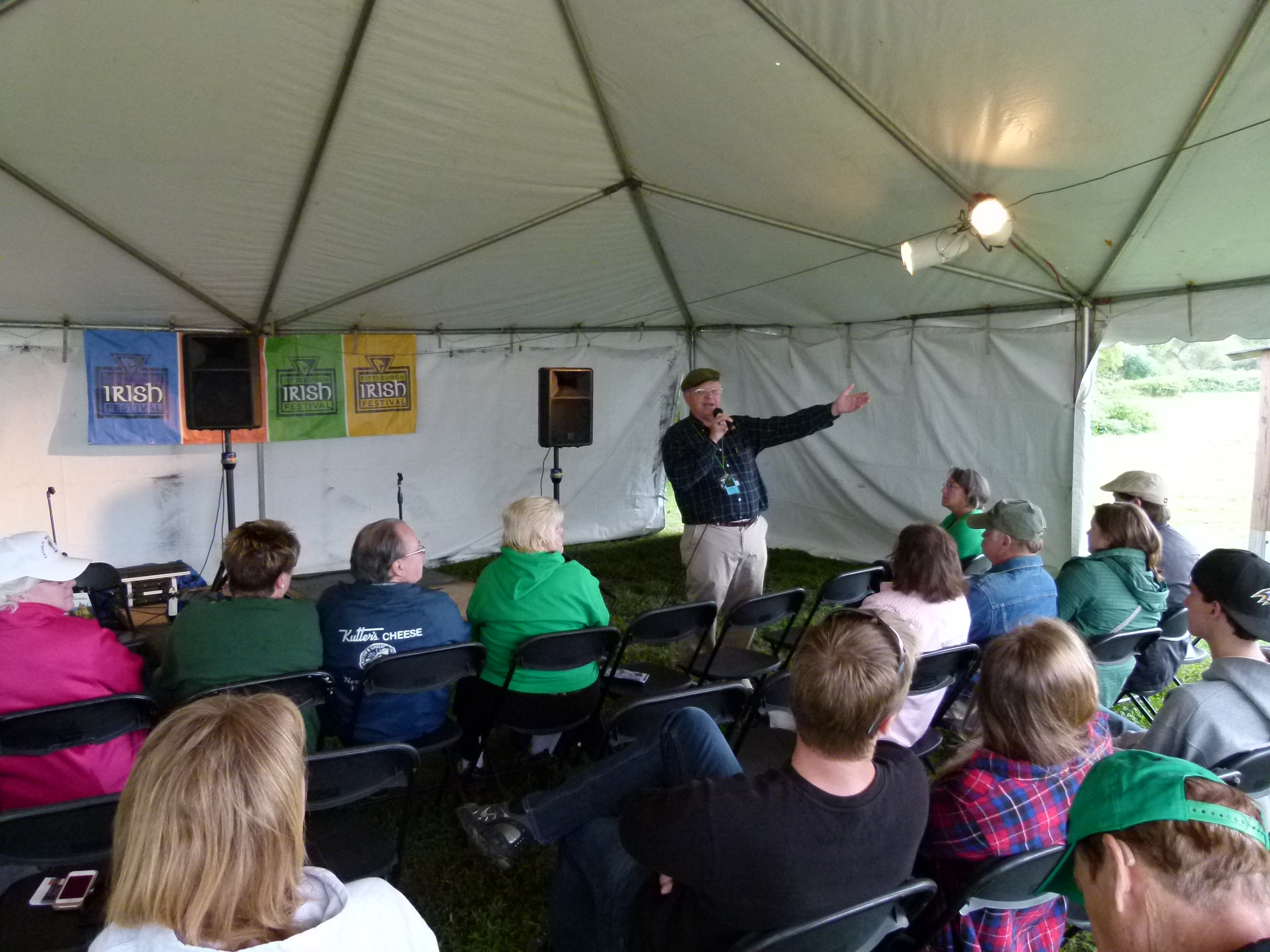 """Storyteller and author David McDonnell tells two tales from ancient Ireland as part of his """"Becoming King"""" talk."""