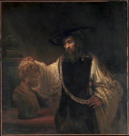 Rembrandt's 'Aristotle Contemplating a Bust of Homer' becomes a window into far-off times and places in 'The Guard.'