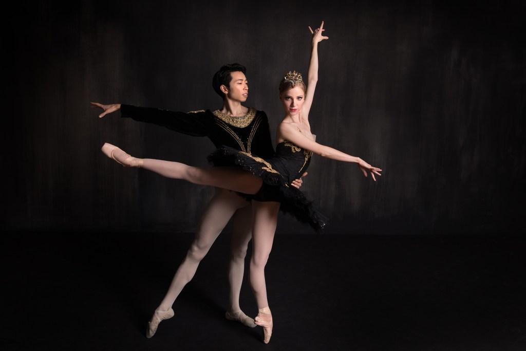 Principal dancers Yoshiaki Nakano (Prince Siegfried) and Amanda Cochrane (pictured here as Odile).