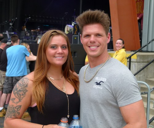 DeAnna and Derrick Cinko, of Johnstown, waiting for the concert to begin.