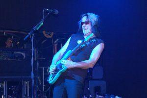 Todd Rundgren jamming in concert in 2009. photo: Carl Lender.