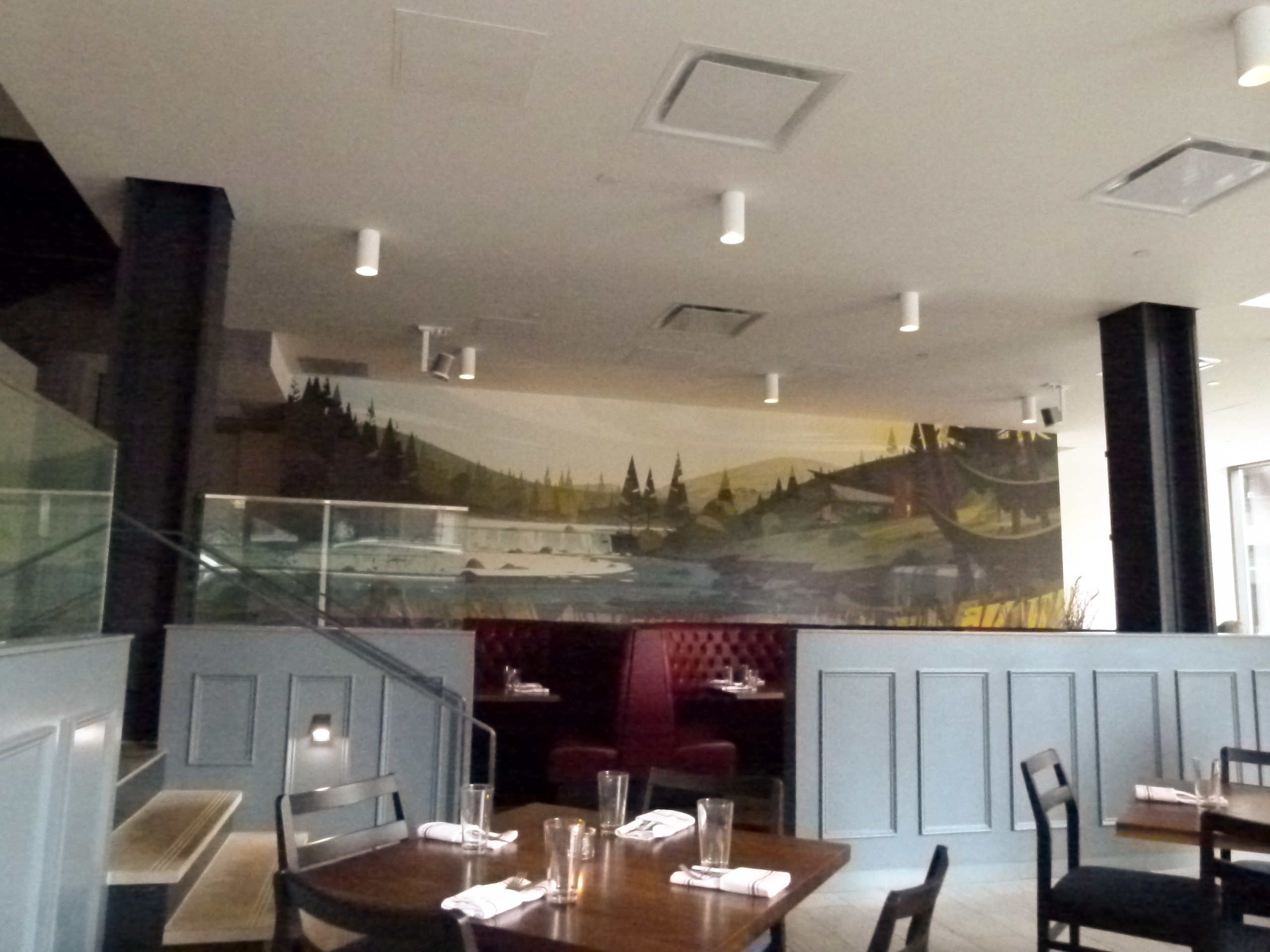 The main dining area of Union Standard before opening for lunch.
