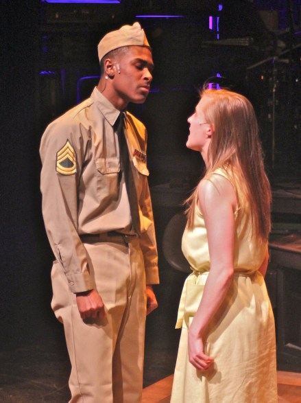 Sgt. Flick (Lamont Walker II) has stern advice for Violet but she's not about to leap to his command.
