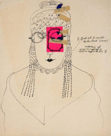 A mixed style works on paper. Andy Warhol, Demande Réponse, 1950s, The Andy Warhol Museum, Pittsburgh, © The Andy Warhol Foundation for the Visual Arts, Inc.
