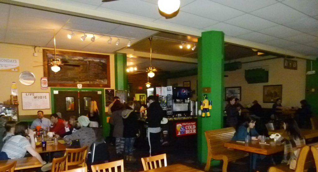 The spacious and confortable interior of Black Bear Burritos.
