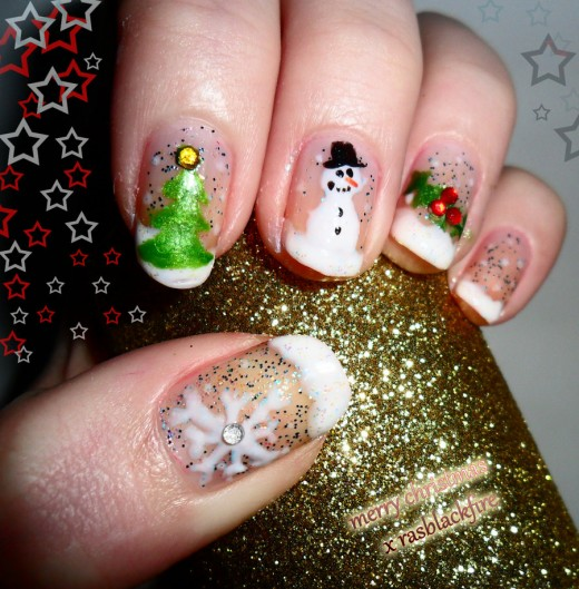 3d Merry Christmas Nails Art 520529 Entertainmentmesh