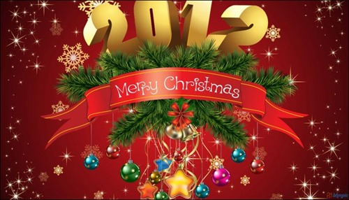 merry christmas 2012 wallpaper