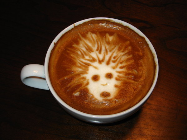 Witch from L4D latte Art