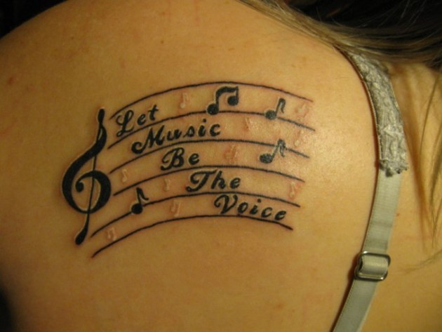 Love for music tattoo designs