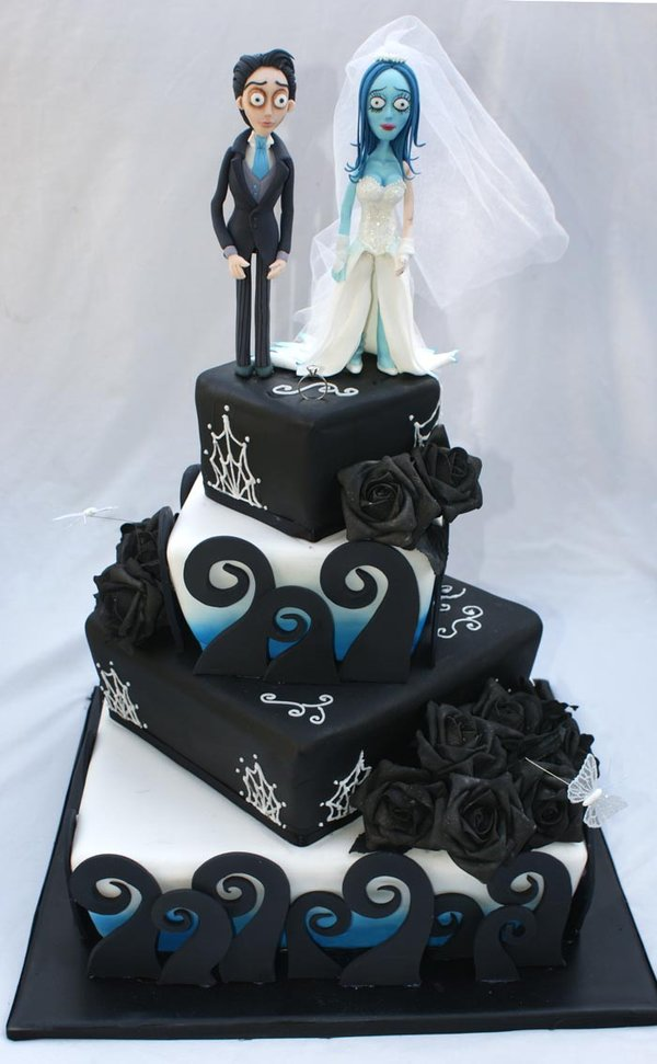 Corpse Bride Wedding Cake