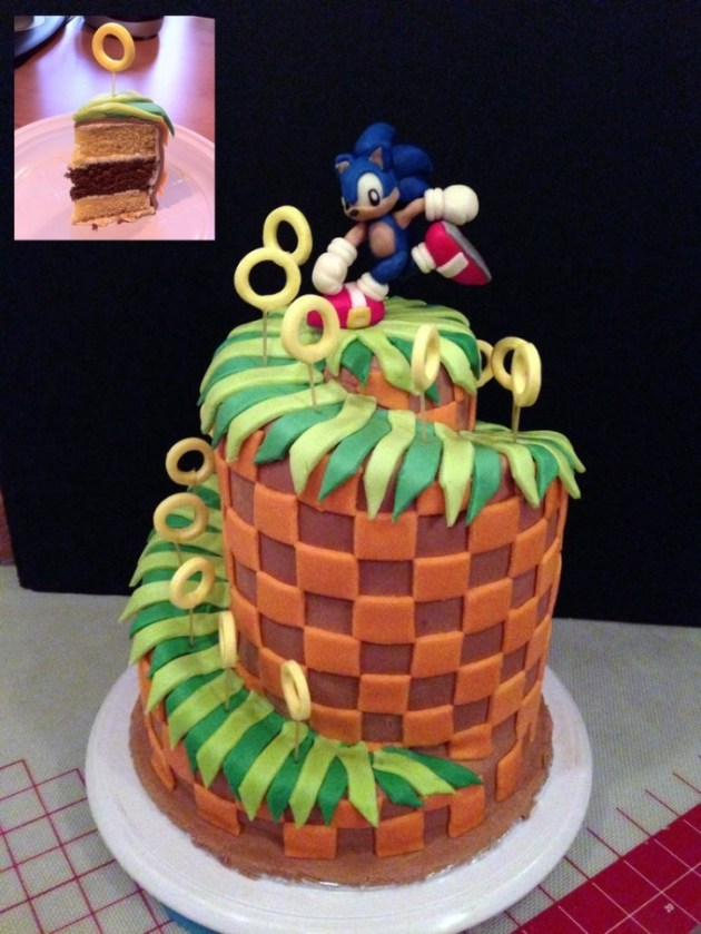 Sonic Green Hill Zone Cake