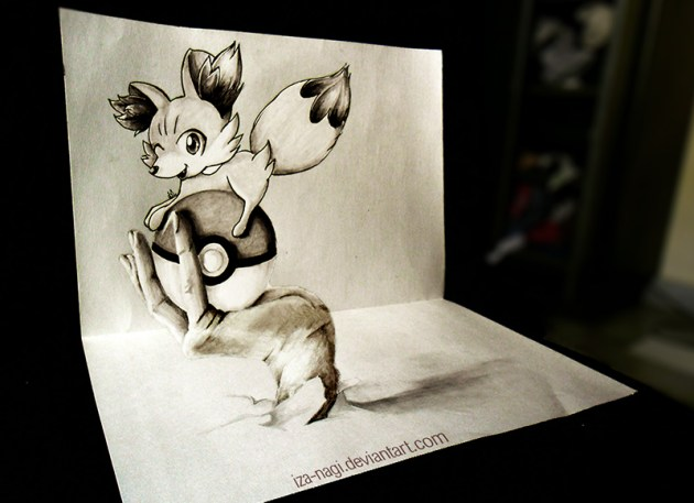 3D DRAWING - Everybody Loves a [tiny] Fennekin ^w^