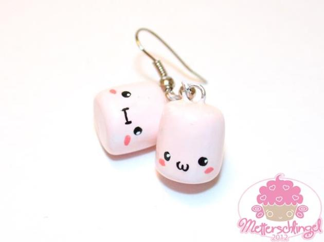 Kawaii Marshmallow Earrings