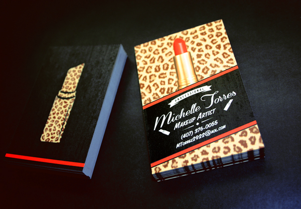 30 most stylish fashion business card designs entertainmentmesh makeup artist business card reheart Images