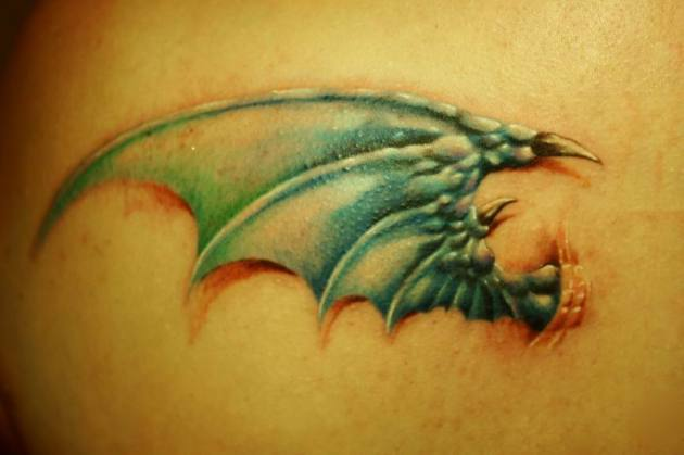 Dragon wing - tattoo