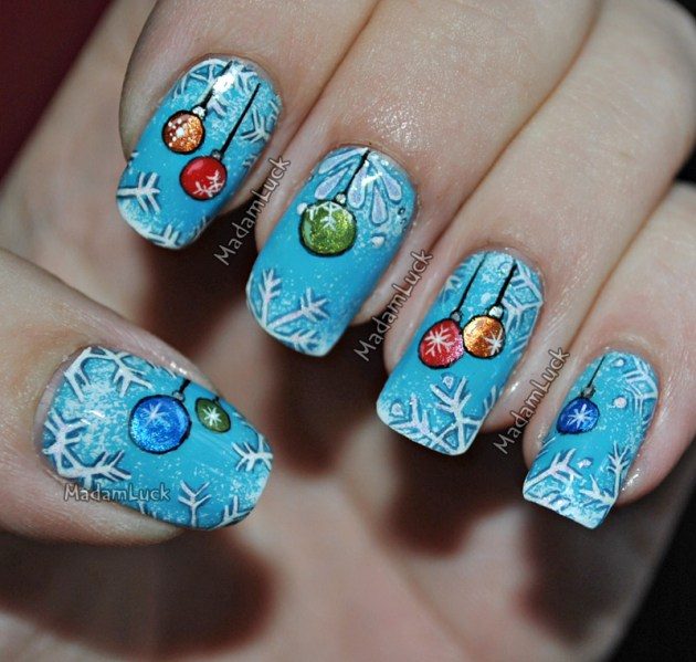 Christmas themed Nail Art