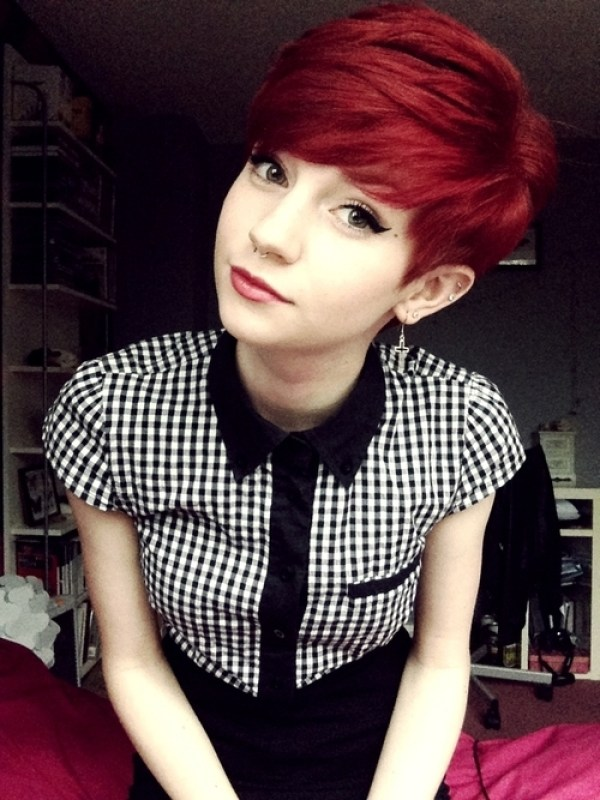 Short Red Color Hair