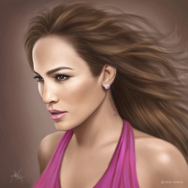 Digital Painting - Jennifer Lopez