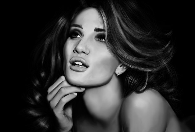 Digital Painting - Rosie Huntington Whiteley