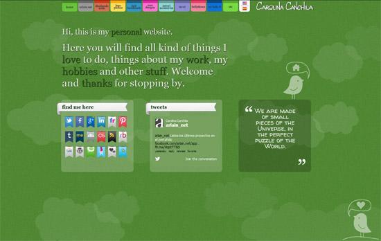 Green Website Design - Carolina Canchila