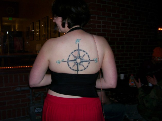 Back Compass Rose Tattoo