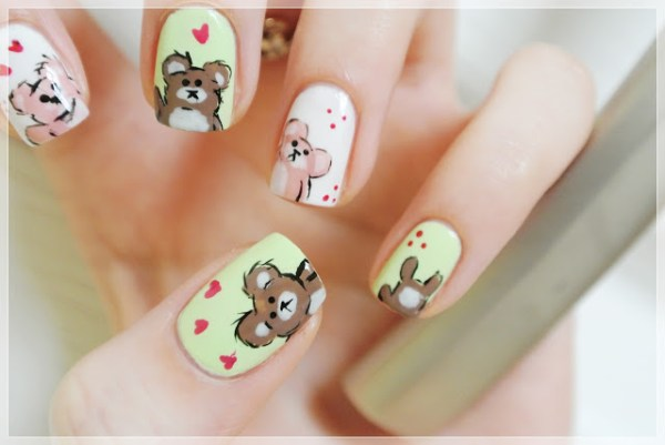 teddy bear manicure