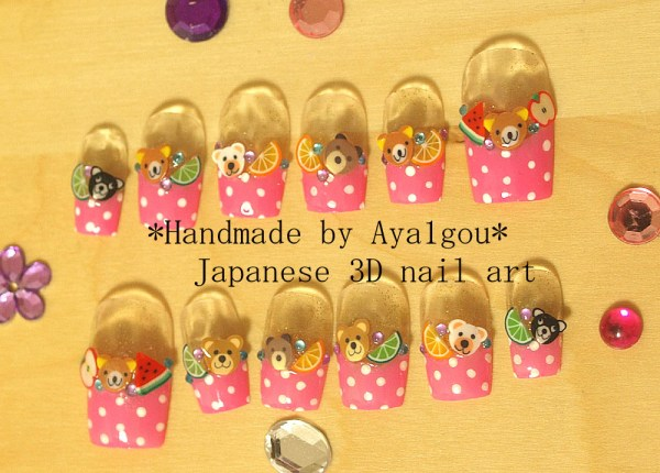 teddy bears Lolita nails