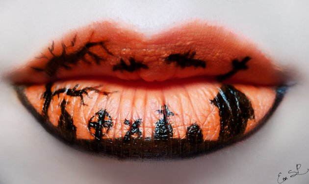 lip art makeup Eva Pernas