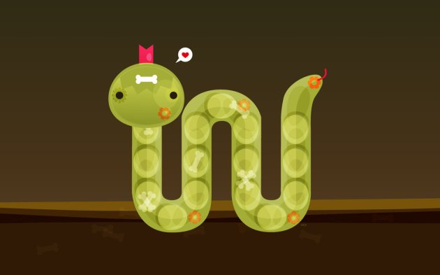 Cute Snake Vector Illustration
