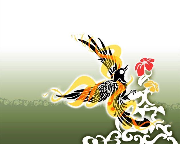Vector Bird Wallpaper