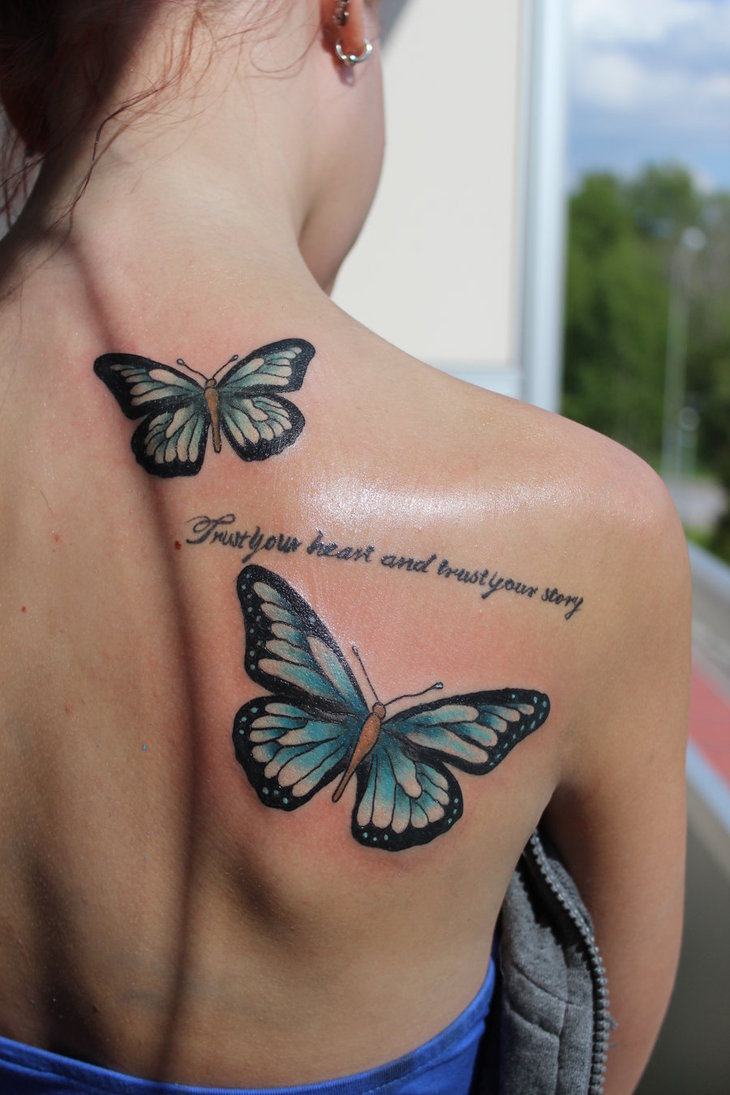 20+ Cute Butterfly Tattoos On Back For Women