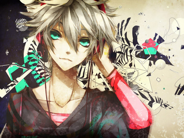 splattered tunes anime wallpaper