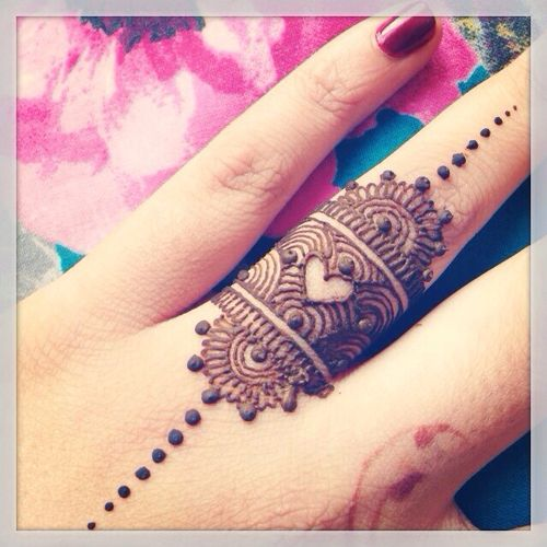 mehndi ring for finger