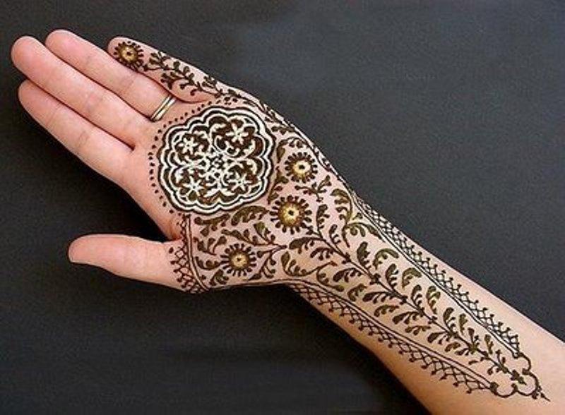 Henna Mehndi Latest Design : Beautiful arabic henna mehndi designs for girls hands