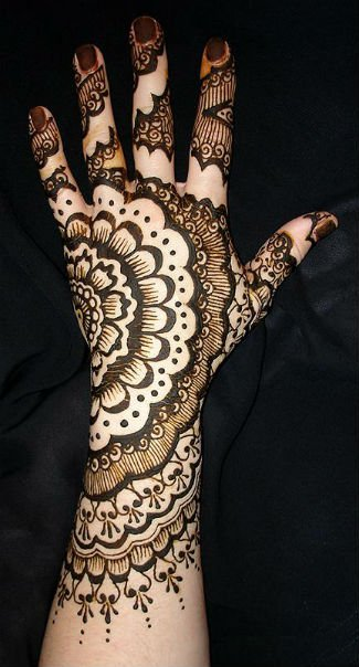 arabic henna design for hands