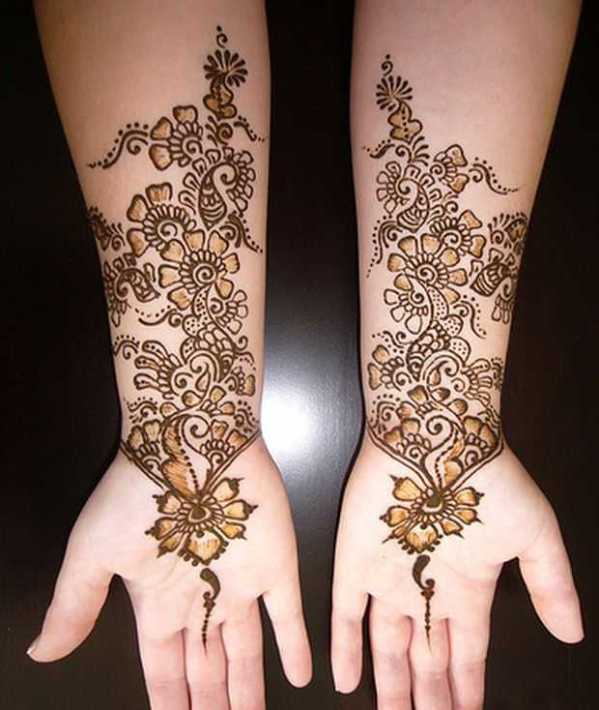 arabic henna for girls hand