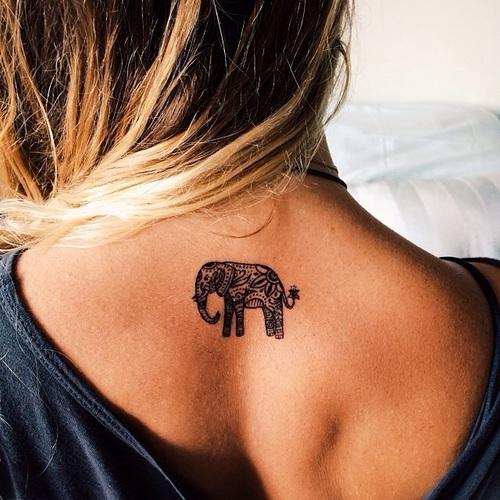 cute elephant tattoo for girls