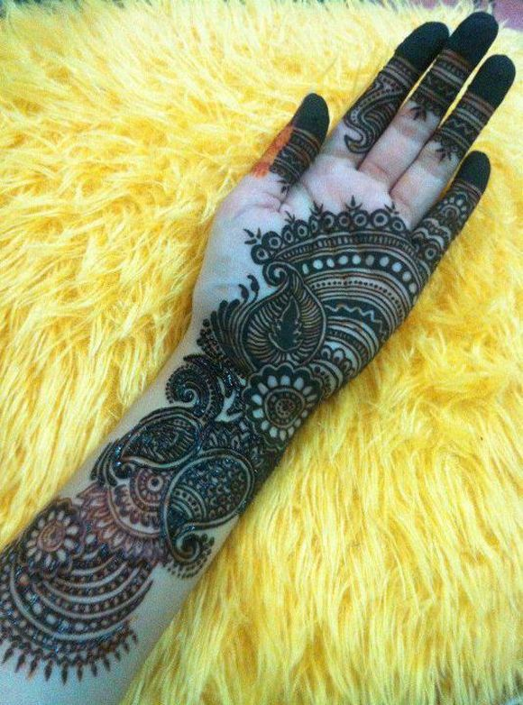 full hand arabian mehndi design