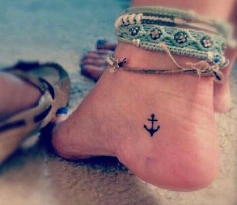 small achor tattoo