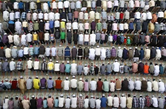 Eid Ul Adha Prayer Kashmiri Takiya Jame Mosque Kathmandu Nepal