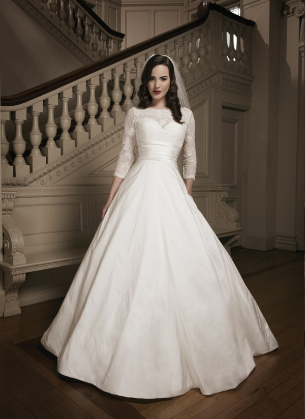 neckline sleeves wedding dress