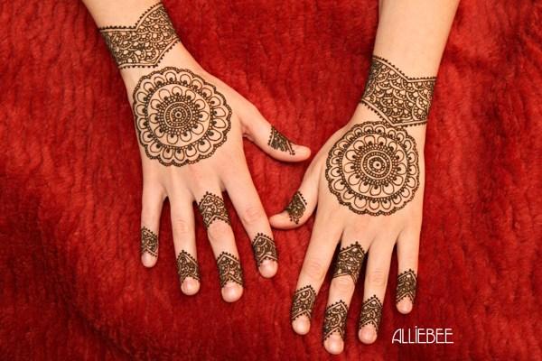 Easy Bridal Mehndi Patterns : New easy and simple mehndi henna designs for beginner girls