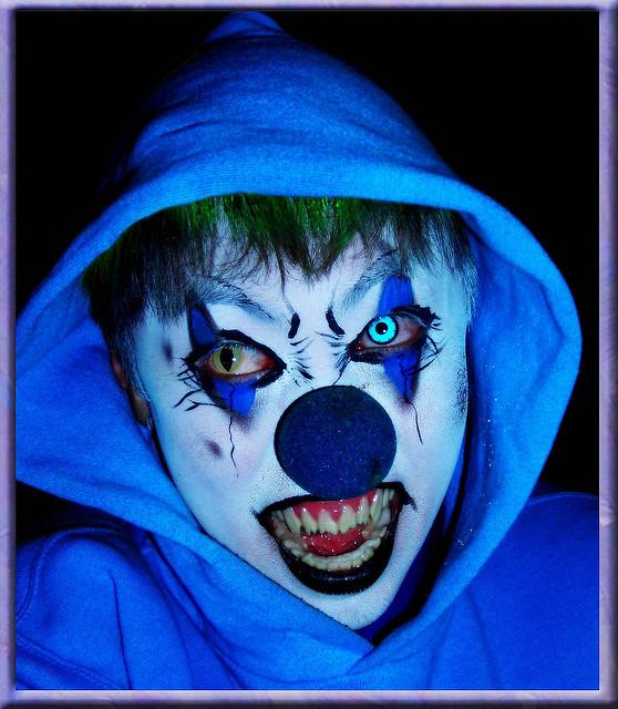 creepy zombie clown