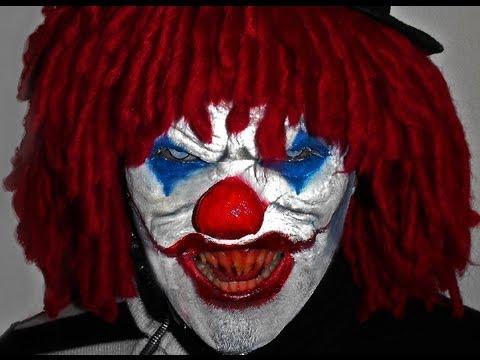 evil clowns on street