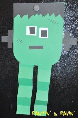 frankenstein easy halloween craft idea for kids
