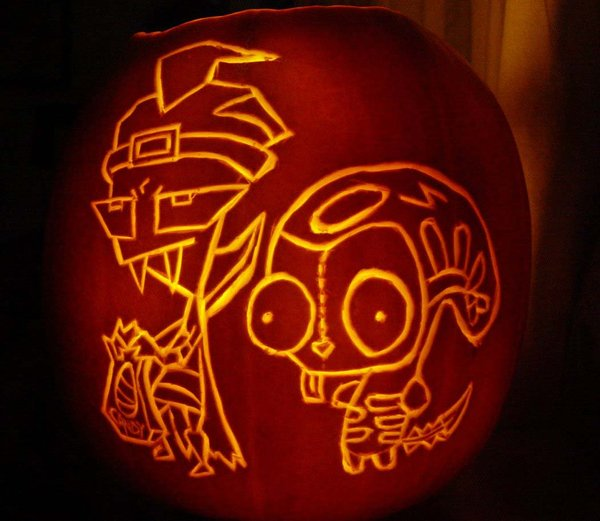 invader zim pumpkin carving ideas