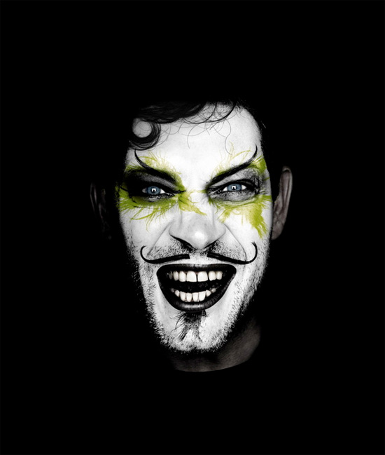 scary clown portrait