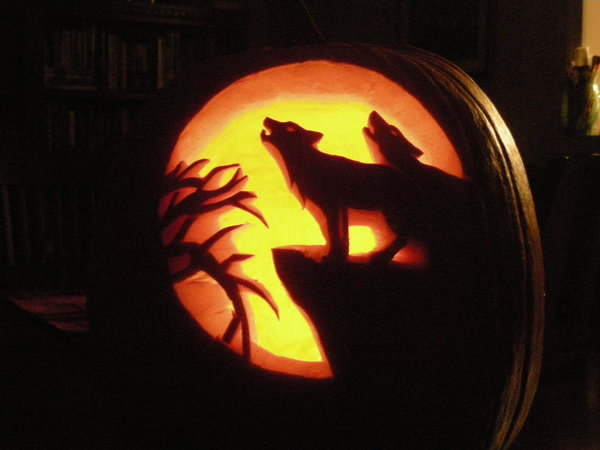 wolf pumpkin carving ideas
