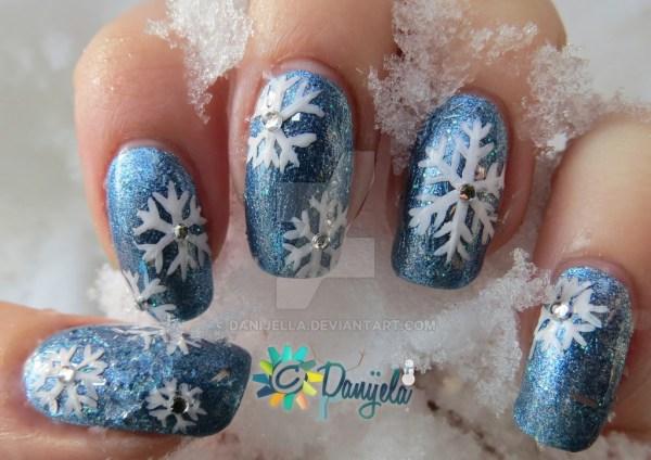 snowflakes winter nails