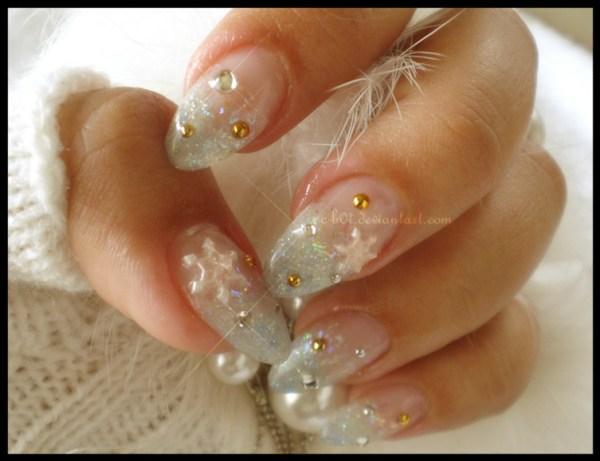 winter snow nails